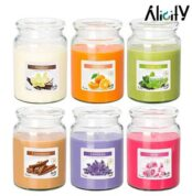 6 scented candle jars