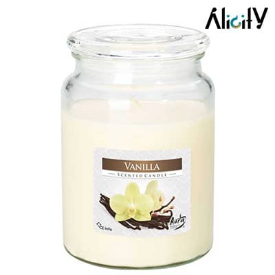 vanilla scented candle jar