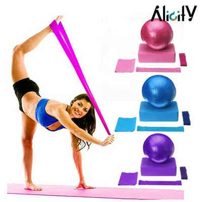 fitness and yoga exercise set