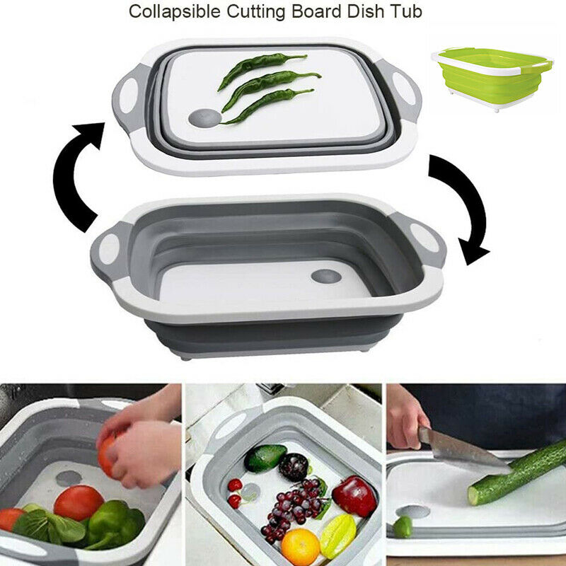 3 In 1 Tools Basket Foldable Kitchen Storage Sink