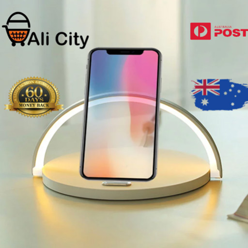 HOT PRICE WIRELESS CHARGER WITH STYLISH LED TABLE LAMP AND FAST CHARGING