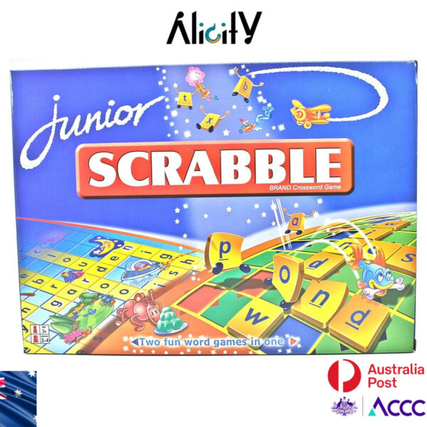 NEW Scrabble Board Game Scrabble Junior Family Game Kid Educational AU stock