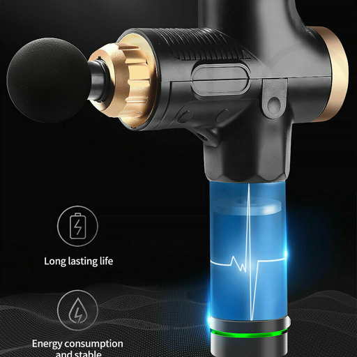 Electric Massage Gun Vibration Massager Muscle Therapy 4 Heads Percussion Tissue