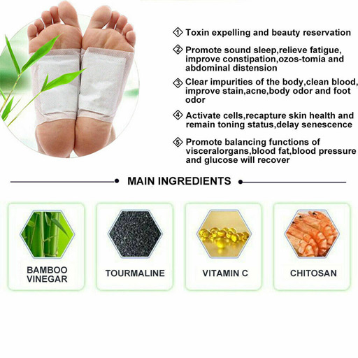 HOT PRICE Herbal Toxin Removal 2X Detox Foot Patch Pads Natural plant