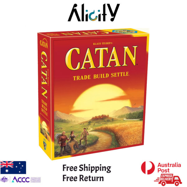 NEW Settlers of Catan MAIN Board Game Party Card Game Best Offer in Alicity Best Strategic Adult Board Game