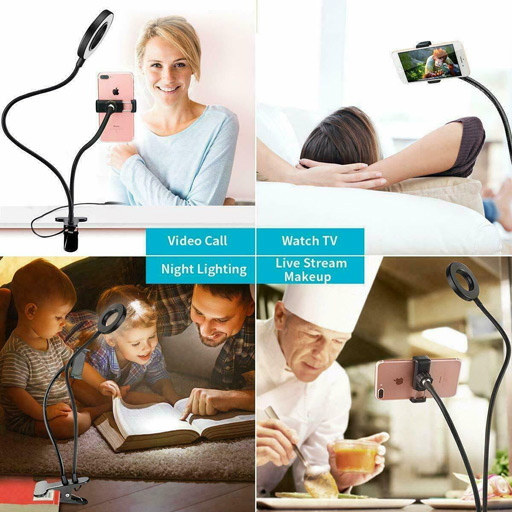 Selfie Ring Light with Cell Phone Stand Holder for Live Stream and make vedio