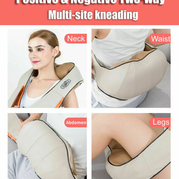 Shiatsu Vibration Massage Infrared Heating Cushion Massager Neck Shoulder