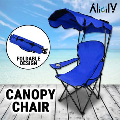 canopy folding camp chair