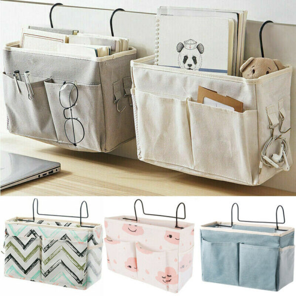Organiser & Storage Hanging Bags, Holder Pocket Suitable for Bedside chair and sofa