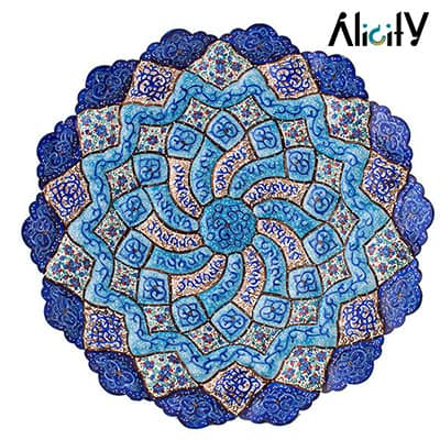 arabesque design decorative enamel plate