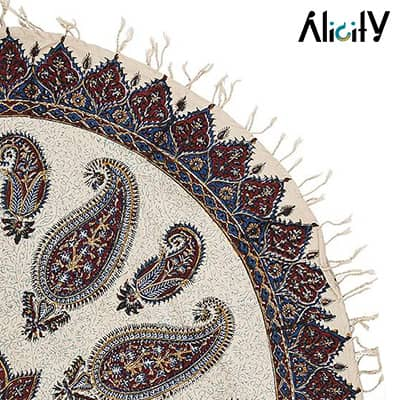 circle kalamkari tablecloth by atrian