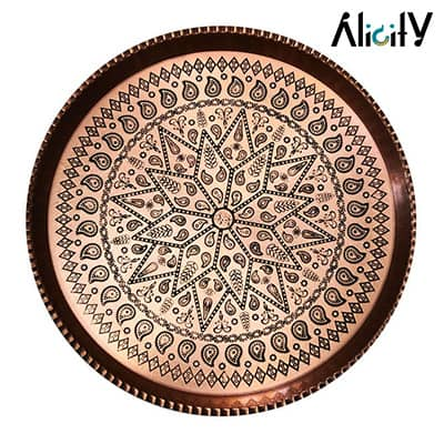 circle copper tray