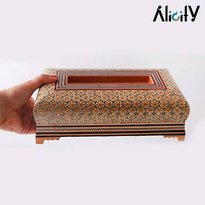 inlaid tissue box