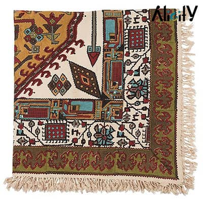 red kilim design kalamkari tablecloth