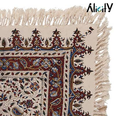 traditional kalamkari tablecloth