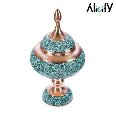 turquoise candy bowl