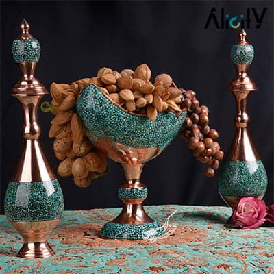turquoise nut serving bowl